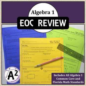 Algebra 1 Review for FSA and EOC
