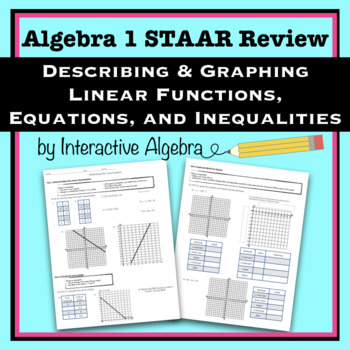Algebra 1 Staar Review 2 Graphing Linear Equations And