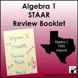Algebra 1 STAAR EOC Review Booklet (TEKS Aligned)