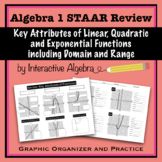 Algebra 1 STAAR Review Key Attributes of Functions including Domain & Range