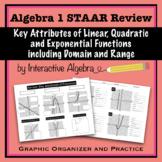 Algebra 1 STAAR Review Key Attributes of Functions including Domain & Range