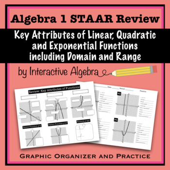 Algebra 1 STAAR Review Key Attributes of Functions ...