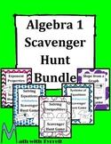 Algebra 1 Scavenger Hunt Bundle