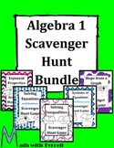 Algebra 1 Scavenger Hunt Bundle