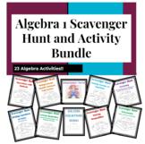 Algebra 1 Scavenger Hunt and Activity Bundle