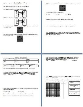 Algebra 1 Second Semester Review Summer 2002 (Editable)