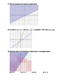 Algebra 1, Semester 1 Practice Exam