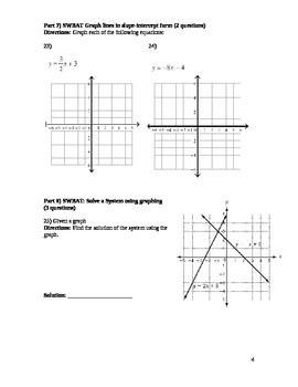 Algebra 1 Semester 2 Final Exam