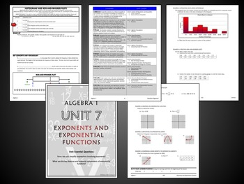 Algebra 1 Semester 2 Unit Plans (Bundled) - Aligned for Common Core