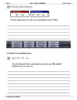 Algebra 1 (2.05): Simplifying Algebraic Expressions