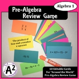 Pre-Algebra Review Game