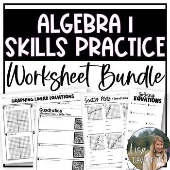 Algebra 1 Skills Practice (BUNDLE)