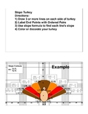 Algebra 1 Slope Activity Thanskgiving Turkey