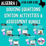 Algebra 1: Solve Equations BUNDLE