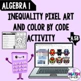 Algebra 1: Solve Inequalities Pixel art & Color by code Pa