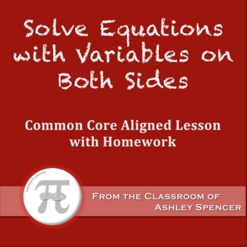 Solve Equations with Variables on Both Sides (Lesson Plan