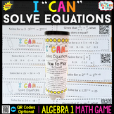 Algebra 1 Solving Equations Game | Linear, Exponential, Rational, and Literal