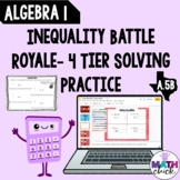 Algebra 1: Solving Inequalities 4- Tier Practice A.5B Pape