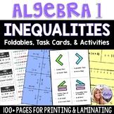 Algebra 1 - Solving Inequalities - Foldable, Task Card, and Game BUNDLE