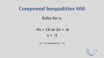 Algebra 1 - Solving Inequalities Jeopardy Review Game