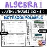 Algebra 1 - Solving Inequalities with Multiplication and Division Foldable