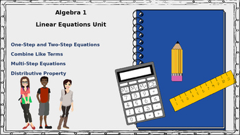 Algebra 1 - Solving Linear Equations