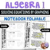 Algebra 1 - Solving Linear Equations by Graphing and Finding Zeros Foldable