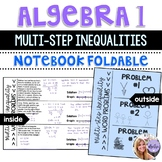 Algebra 1 - Solving Multi-Step Inequalities Word Problems Foldable