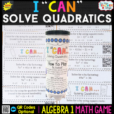 Algebra 1 Game | Solving Quadratics | Factoring, Square Ro