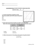 Algebra 1 Solving Systems Mastery Quiz TEKS.A.8.B