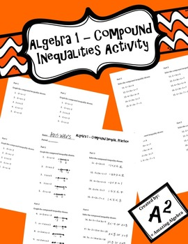 Algebra 1 - Solving and Graphing Compound Inequalities Practice