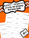 Algebra 1 - Solving and Graphing Inequalities Matching Game