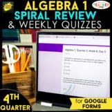 Algebra 1 Spiral Review | Google Classroom Distance Learni