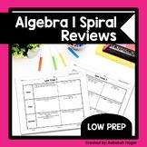 Algebra 1 Spiral Reviews