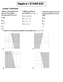 Algebra 1 Staar EOC review