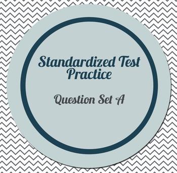 Algebra 1 Standardized Test Practice Cards_ Set A
