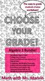 Algebra 1 -- Student Choice Worksheet Bundle