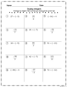 Algebra 1 Student Practice Pages Bundle