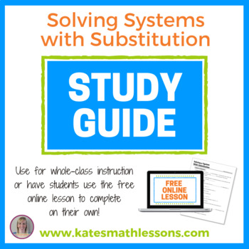 Solving a System of Equations with Substitution Study Guide