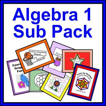 Algebra 1 Sub Pack