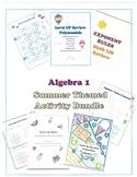 Summer School Math Algebra 1 Fun Activity Bundle