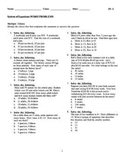 Algebra 1 System of Equations Examview Bank