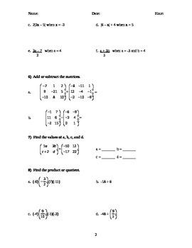 Algebra 1 TEST Chapter 2