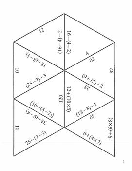 Algebra 1 Tarsia's