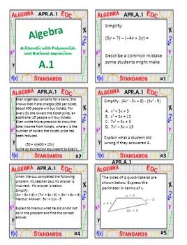 Algebra 1 Task Card Review - Free Sample