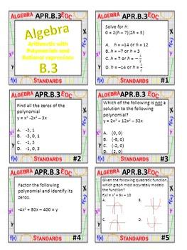 Algebra 1 Review Task Cards - Algebra Domain