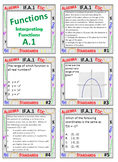 Algebra 1 Review Task Cards - Functions
