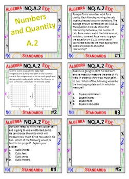 Algebra 1 Review Task Cards - Number and Quantity
