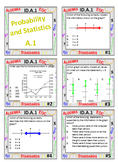 Algebra 1 Review Task Cards - Probability and Statistics