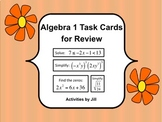 Algebra 1 Task Cards for Review